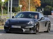 Porsche Cayman GT4 testing images