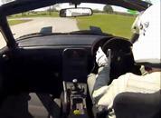 Mazda MX-5 drifting at Oulton: PHTV